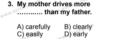 İngilizce 5 Dersi 2013 - 2014 Yılı 1. Dönem Sınav Soruları 3. Soru