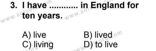 İngilizce 5 Dersi 2013 - 2014 Yılı 3. Dönem Sınavı 3. Soru