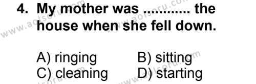 İngilizce 5 Dersi 2013 - 2014 Yılı 3. Dönem Sınavı 4. Soru