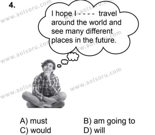 İngilizce 5 Dersi 2019 - 2020 Yılı 2. Dönem Sınav Soruları 4. Soru