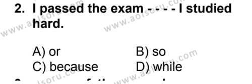 İngilizce 6 Dersi 2016 - 2017 Yılı 1. Dönem Sınav Soruları 2. Soru