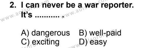 İngilizce 7 Dersi 2012 - 2013 Yılı 2. Dönem Sınavı 2. Soru