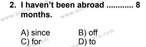 İngilizce 8 Dersi 2012 - 2013 Yılı 2. Dönem Sınavı 2. Soru