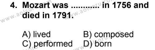 İngilizce 8 Dersi 2012 - 2013 Yılı 2. Dönem Sınavı 4. Soru