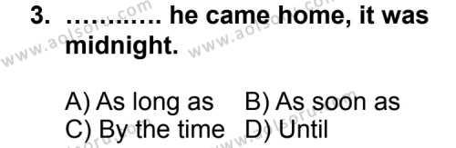 İngilizce 8 Dersi 2013 - 2014 Yılı 1. Dönem Sınav Soruları 3. Soru