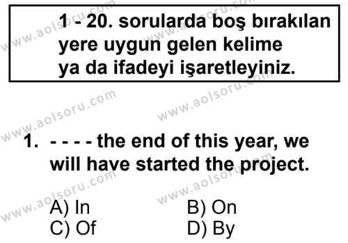 İngilizce 8 Dersi 2014 - 2015 Yılı Ek Sınav Soruları 1. Soru