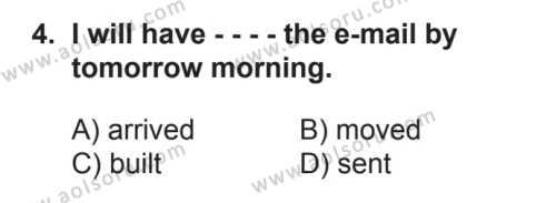 İngilizce 8 Dersi 2017 - 2018 Yılı 2. Dönem Sınavı 4. Soru