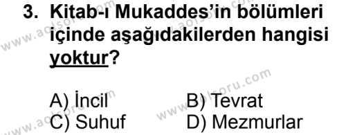 Kelam 2 Dersi 2013 - 2014 Yılı 3. Dönem Sınavı 3. Soru