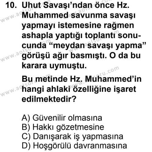 Kelam 2 Dersi 2014-2015 Yılı 1. Dönem Sınavı 10. Soru