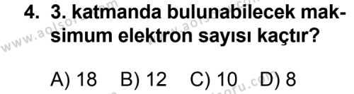 Kimya 3 Dersi 2013 - 2014 Yılı 1. Dönem Sınavı 4. Soru