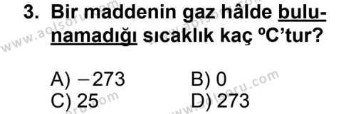Kimya 4 Dersi 2013 - 2014 Yılı 3. Dönem Sınav Soruları 3. Soru