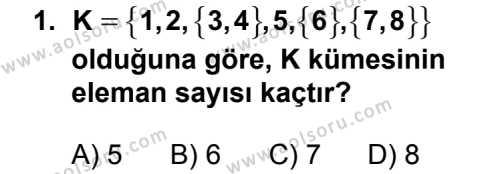 Matematik 1 Dersi 2013 - 2014 Yılı 3. Dönem Sınavı 1. Soru