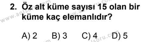 Matematik 1 Dersi 2013 - 2014 Yılı 3. Dönem Sınavı 2. Soru