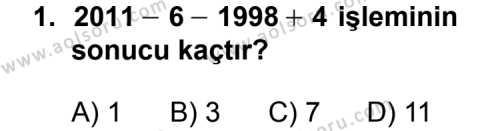 Matematik 2 Dersi 2011 - 2012 Yılı Ek Sınavı 1. Soru