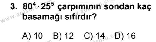 Matematik 2 Dersi 2012 - 2013 Yılı 1. Dönem Sınav Soruları 3. Soru