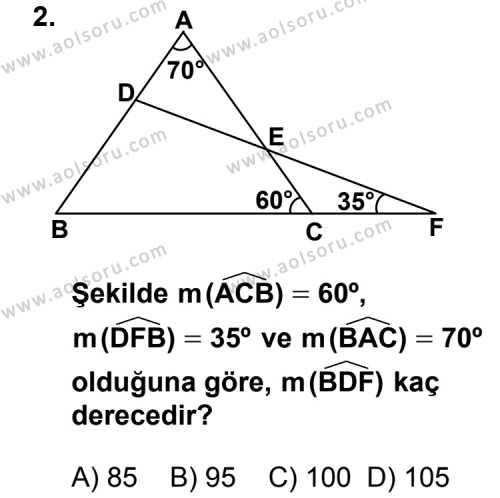 Matematik 2 Dersi 2014 - 2015 Yılı Ek Sınav Soruları 2. Soru