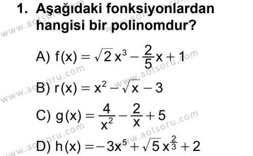 Matematik 3 Dersi 2012-2013 Yılı 1. Dönem Sınavı 1. Soru