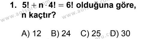 Matematik 3 Dersi 2014 - 2015 Yılı Ek Sınav Soruları 1. Soru