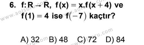 Seçmeli Matematik 3 Dersi 2013-2014 Yılı 1. Dönem Sınavı 6. Soru
