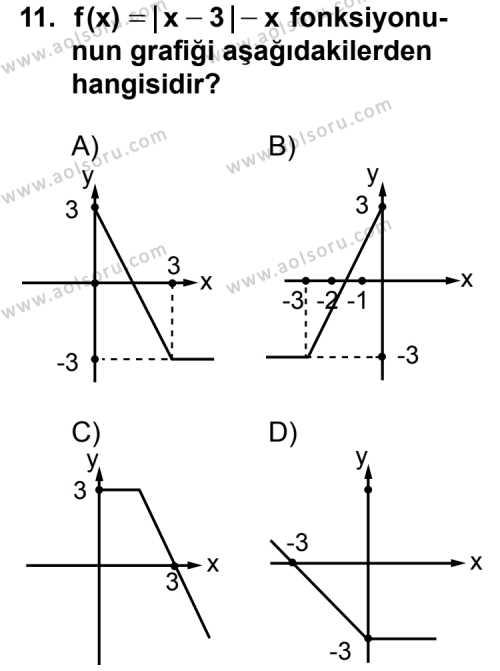 Seçmeli Matematik 3 Dersi 2013-2014 Yılı 1. Dönem Sınavı 11. Soru