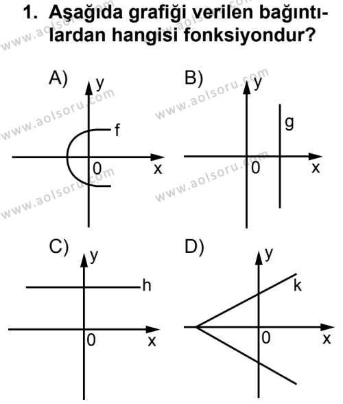 Seçmeli Matematik 3 Dersi 2013 - 2014 Yılı 3. Dönem Sınavı 1. Soru