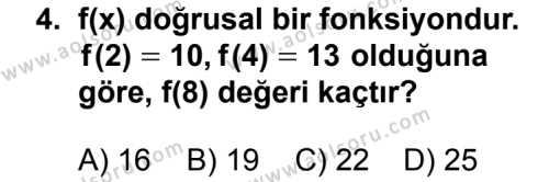 Seçmeli Matematik 3 Dersi 2013 - 2014 Yılı 3. Dönem Sınavı 4. Soru