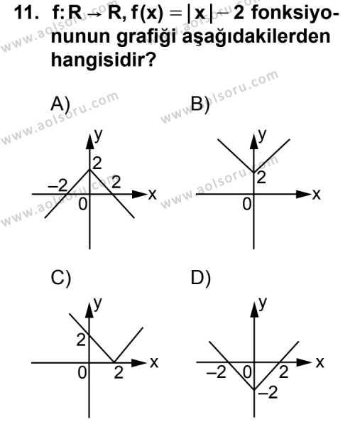 Seçmeli Matematik 3 Dersi 2014-2015 Yılı 1. Dönem Sınavı 11. Soru