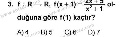Seçmeli Matematik 3 Dersi 2015-2016 Yılı 1. Dönem Sınavı 3. Soru