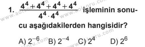 Seçmeli Matematik 3 Dersi 2018 - 2019 Yılı 2. Dönem Sınavı 1. Soru