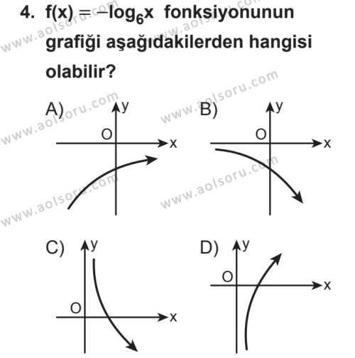 Seçmeli Matematik 3 Dersi 2018 - 2019 Yılı 2. Dönem Sınavı 4. Soru