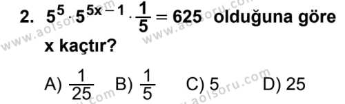 Seçmeli Matematik 3 Dersi 2018 - 2019 Yılı Ek Sınavı 2. Soru