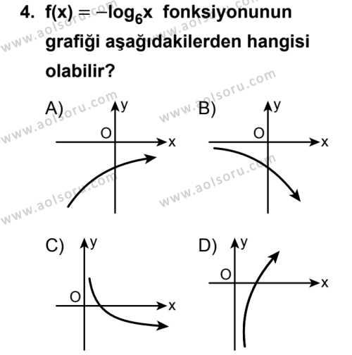 Seçmeli Matematik 3 Dersi 2018 - 2019 Yılı Ek Sınav Soruları 4. Soru