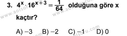 Seçmeli Matematik 3 Dersi 2019 - 2020 Yılı 2. Dönem Sınav Soruları 3. Soru