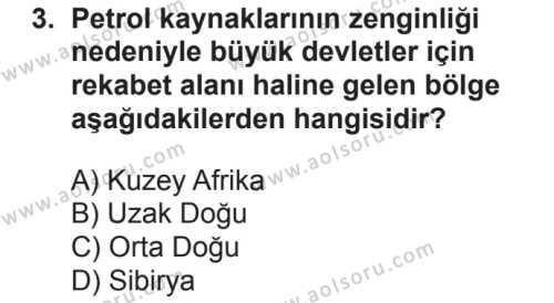 Seçmeli Çağdaş Türk ve Dünyası Tarihi 1 Dersi 2018 - 2019 Yılı 2. Dönem Sınavı 3. Soru
