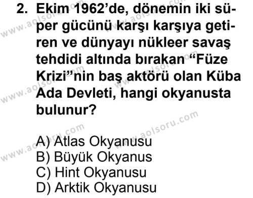 Seçmeli Çağdaş Türk ve Dünyası Tarihi 2 Dersi 2013 - 2014 Yılı 3. Dönem Sınav Soruları 2. Soru