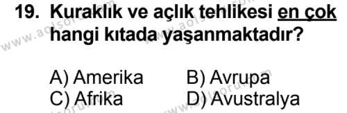 Seçmeli Çağdaş Türk ve Dünyası Tarihi 2 Dersi 2014-2015 Yılı 1. Dönem Sınavı 19. Soru