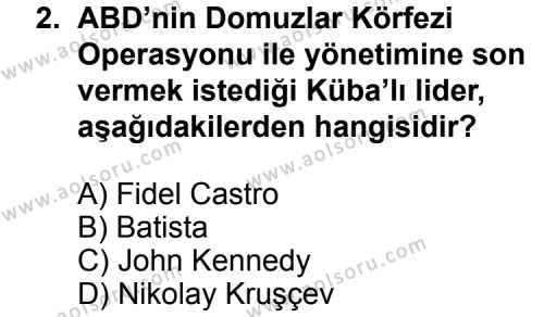 Seçmeli Çağdaş Türk ve Dünyası Tarihi 2 Dersi 2014 - 2015 Yılı Ek Sınavı 2. Soru