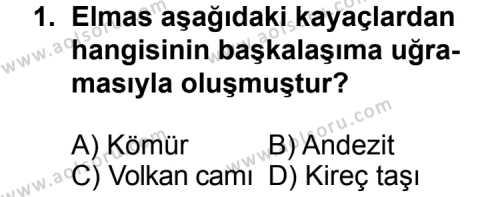 Seçmeli Coğrafya 3 Dersi 2013 - 2014 Yılı 3. Dönem Sınav Soruları 1. Soru