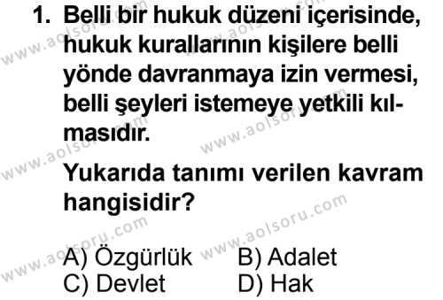 Seçmeli Demokrasi ve İnsan Hakları 2 Dersi 2013 - 2014 Yılı 3. Dönem Sınav Soruları 1. Soru