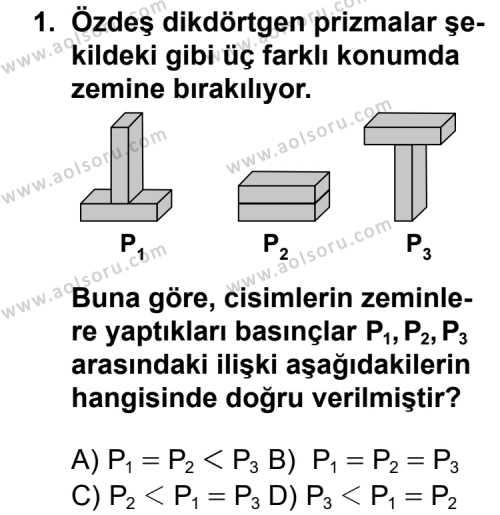 Seçmeli Fizik 1 Dersi 2013 - 2014 Yılı 2. Dönem Sınav Soruları 1. Soru