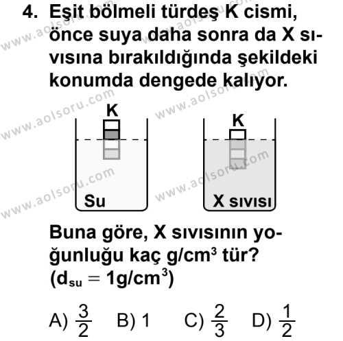 Seçmeli Fizik 1 Dersi 2013 - 2014 Yılı 2. Dönem Sınav Soruları 4. Soru