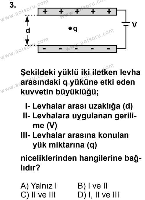 Seçmeli Fizik 2 Dersi 2011 - 2012 Yılı Ek Sınavı 3. Soru