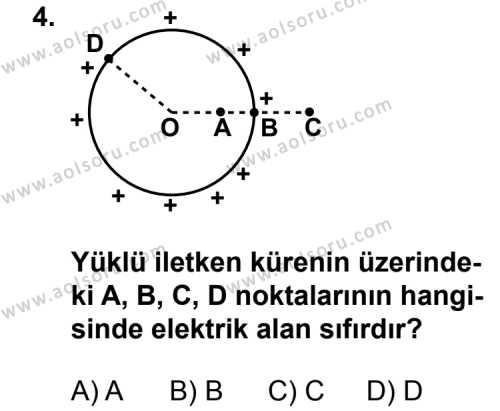 Seçmeli Fizik 2 Dersi 2011 - 2012 Yılı Ek Sınavı 4. Soru