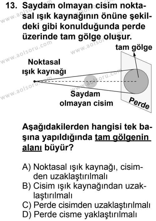 Seçmeli Fizik 2 Dersi 2013-2014 Yılı 1. Dönem Sınavı 13. Soru