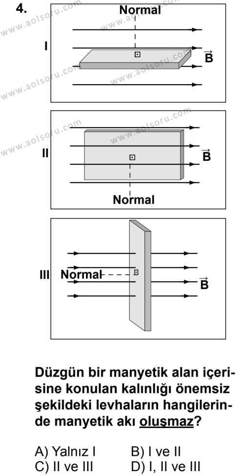 Seçmeli Fizik 3 Dersi 2011 - 2012 Yılı 2. Dönem Sınavı 4. Soru