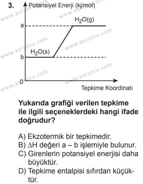 Seçmeli Kimya 2 Dersi 2018 - 2019 Yılı 2. Dönem Sınavı 3. Soru