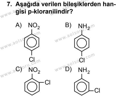 Seçmeli Kimya 4 Dersi 2016-2017 Yılı 1. Dönem Sınavı 7. Soru