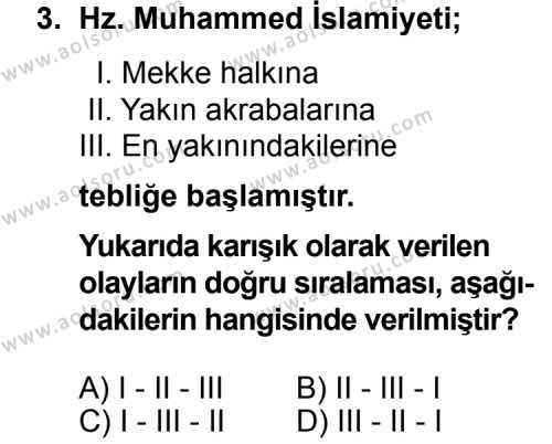 Seçmeli Tarih 2 Dersi 2014 - 2015 Yılı Ek Sınav Soruları 3. Soru