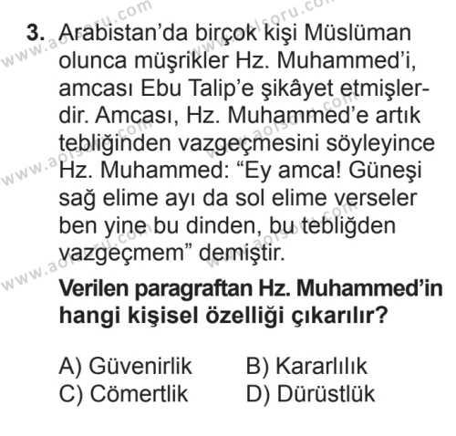 Seçmeli Tarih 2 Dersi 2017 - 2018 Yılı 3. Dönem Sınavı 3. Soru
