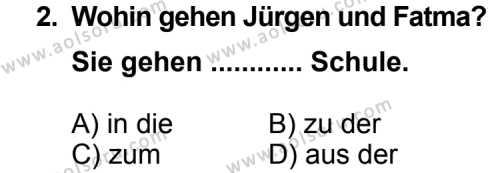 Seçmeli Yabancı Dil Almanca 3 Dersi 2011 - 2012 Yılı Ek Sınav Soruları 2. Soru
